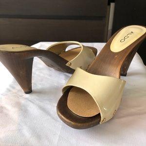 Aldo Wooden Slide Heels
